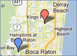 Map of Dr. Disick's Offices